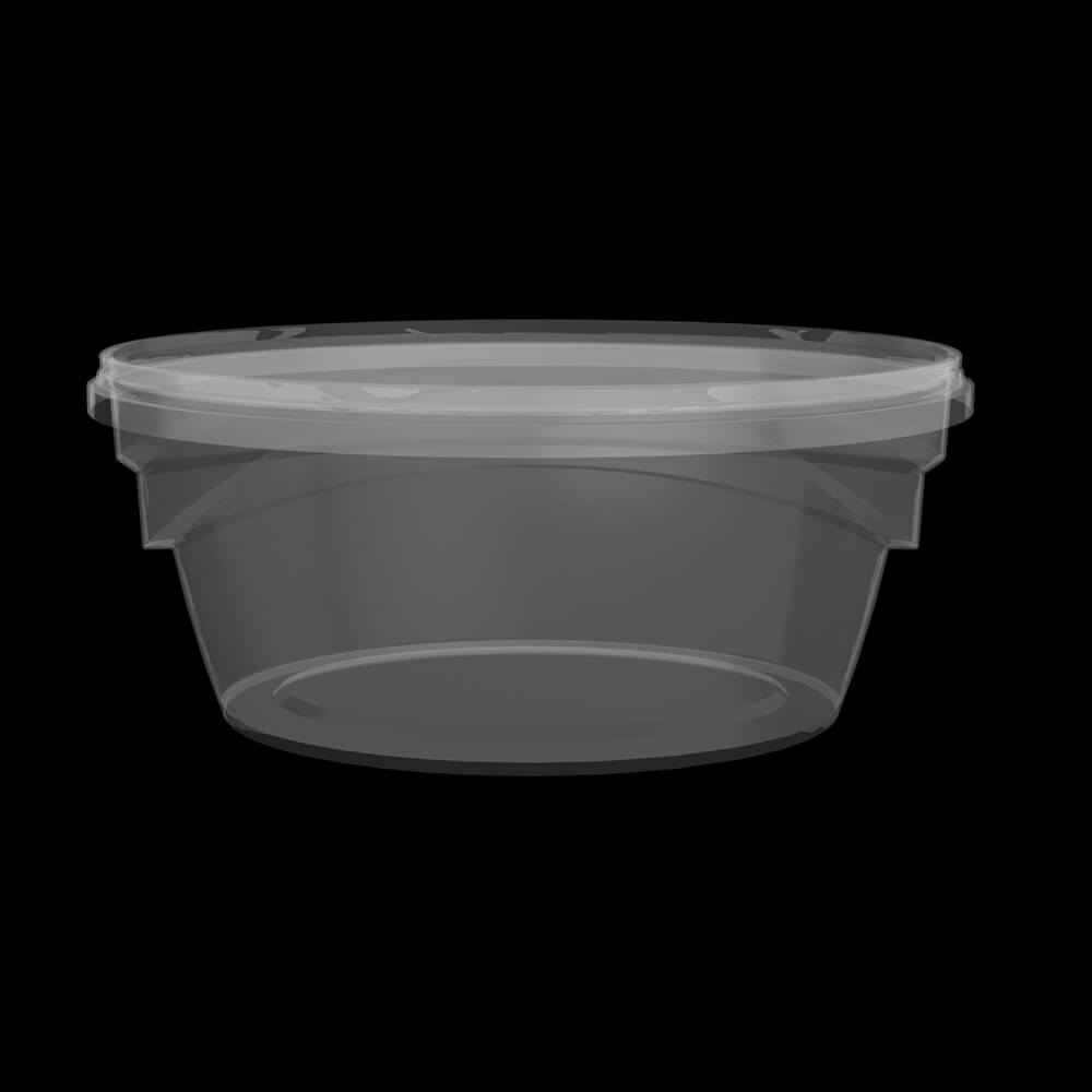 KPC400 - 520 ml Transparent Corner Box