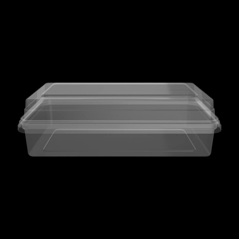 KPDND1000 - 530 ml Transparent Corner Box